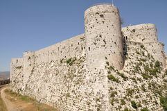 Crusader castle in Syria Stock Images