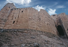 Crusader castle in Syria Stock Image