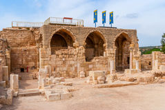 Crusader Church in Beit Guvrin National Park. Crusader Church in Beit Guvrin National Park, Israel Stock Images