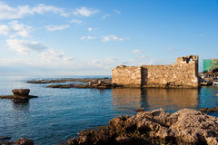 Crusader Fort at the ancient port of Byblos Royalty Free Stock Image