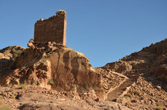 Crusader Fort, Petra stock image