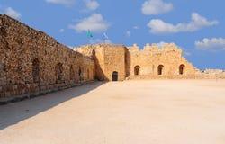 Crusader Fortress. Ruins Of The Crusader Fortress Antipatris With Israel Flag Stock Images