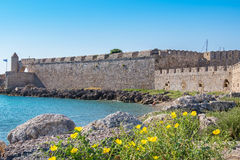 Crusader fortress of Rhodes. Greece Stock Photography