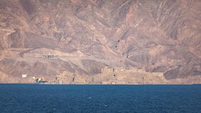 Crusader Fortress Saudi Arabia. Crusader fortress ruins and landscape on the coastline of Saudi Arabia in the Red Sea royalty free stock photos