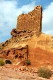 Crusader's fort ruins in Petra, Stock Image