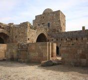 Crusader Sea Castle, Sidon-Lebanon. The ancient crusader sea castle-Inside view (Sidon, Lebanon Stock Photos