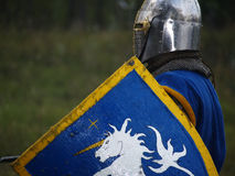 Crusader With Shield Stock Images
