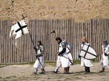 Crusaders. Bilhorod-Dnistrovskyi, Ukraine. Reconstruction of the capture by Akkerman royalty free stock image