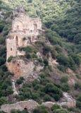 Crusaders castle ruins in Galilee Stock Images