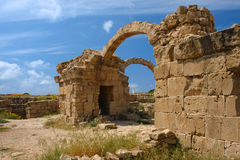Crusaders castle  saranta kolones in cyprus Royalty Free Stock Image