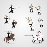 Crusaders and saracens. Historical soldiers. Crusaders and saracens. Eps10 Stock Photography