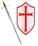 Crusaders Sword and Shield Royalty Free Stock Photo