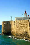 Crusaders wall in Acre Stock Images