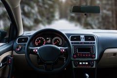 Cruscotto anteriore interno dell'automobile Immagini Stock Libere da Diritti
