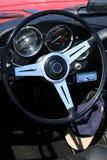 Cruscotto classico dell'automobile Fotografie Stock Libere da Diritti