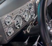 Cruscotto d'annata delle automobili Fotografia Stock