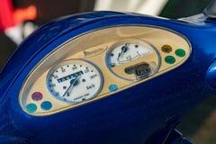 Cruscotto del motorino di motore di Piaggio Fotografia Stock