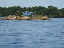 Cruse в островах ` s тысячи Канады Стоковое Изображение RF