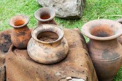 Cruse pot. An old cruse pot set Royalty Free Stock Photos