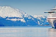 A cruse ship in Alaska. Cruse ship at Prince Williams Sounds Alaska Stock Images