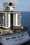 Cruse Ship MSC Seaside. Costa Maya,Mexico,caribbean, 11January 2018: A large cruise liner MSC Seaside in port Costa Maya, Mexico in the day Royalty Free Stock Photos
