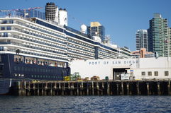 Cruse ship terminal in San Diego, Califor Royalty Free Stock Photos