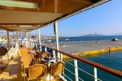Cruse tur på den Grekland ön royaltyfri bild