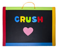 Crush. School Crush Concept Isolated on White with a Clipping Path royalty free stock images