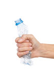 Crush the bottle after use Stock Image