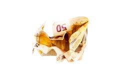 Crush 50 Euro bill Stock Images