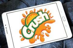 Crush logo. Logo of drinks company crush on samsung tablet royalty free stock photos