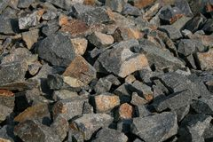 Crushed andesite Royalty Free Stock Photography