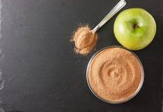 Crushed apple fiber, apple green Stock Photos
