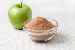 Crushed apple fiber, green apple Royalty Free Stock Photo