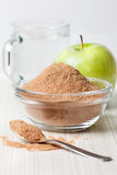 Crushed apple fiber, green apple Stock Image