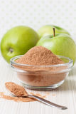 Crushed apple fiber, green apple. On a light background. dietary product stock image