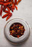 Crushed birds eye chili pepper spice Royalty Free Stock Photography