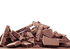 Crushed blocks of chocolate Royalty Free Stock Photo