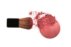 Crushed blush and brush Royalty Free Stock Photos