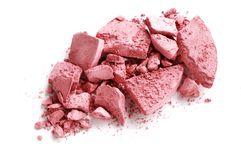Crushed blusher isolated on white. Background Stock Photos