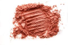 Crushed blusher isolated on white. Background Stock Images