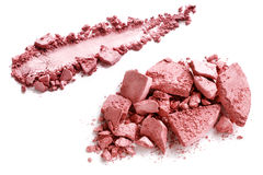 Crushed blusher  on white. Background Stock Photo