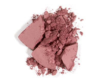 Crushed blushon - makeup. For fashion and beauty magazines Royalty Free Stock Photo