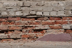 Crushed brick facade royalty free stock photography