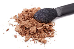 Crushed brown eyeshadow Stock Image
