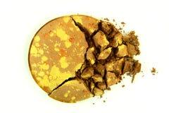 Crushed Brown Eyeshadow Stock Photos