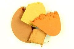 Crushed Brown Eyeshadow Royalty Free Stock Image