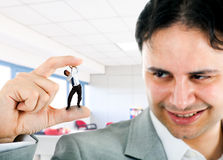 Crushed businessman Royalty Free Stock Photography