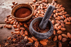 Crushed cacao beans Royalty Free Stock Image
