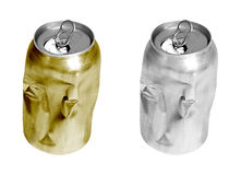 Crushed can Royalty Free Stock Image